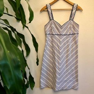 Lilly Pulitzer Blue and White Striped Sundress